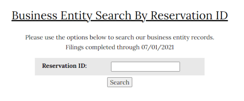Alabama name search by reservation ID